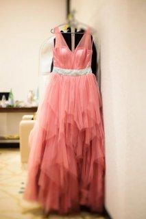 فستان خطوبتي للبيع مقاس سمول (صغير) وردي