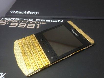 BlackBerry Porsche Gold/ Galaxy S4 / Iphone 5 Gold