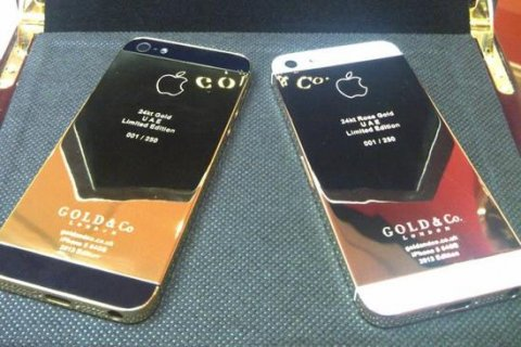 صور Vips Pins Blackberry Porsche Design Gold, Apple iPhone 5 Gold 2