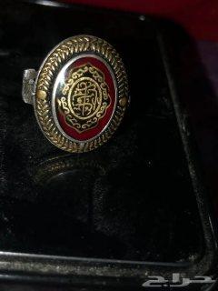 خاتم فاخر قديم منقوش