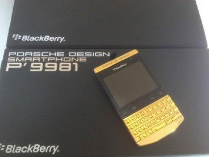 New Blackberry Porsche P9981 & Blackberry Q10 with Special Pin