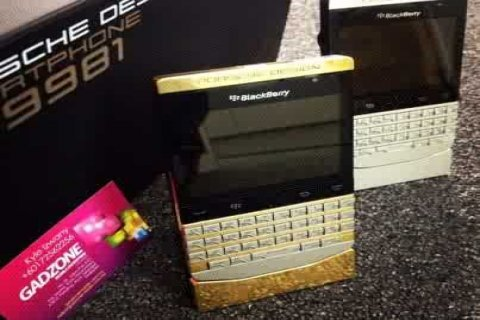 Blackberry Porsche Design P9981 24CT GOLD Edition (with VIP PIN