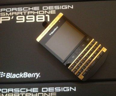 للبيع ابل اي فون 5S الذهب - بلاك بيري بورش P9981 تصميم - ملاحظة