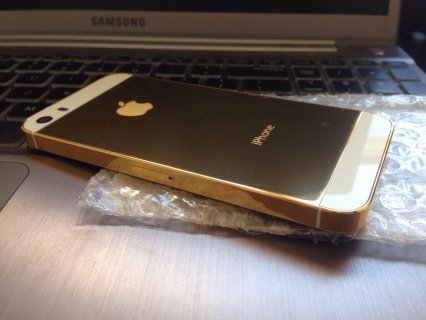 صور New Apple iPhone 5s 64GB Unlocked 24 Karat Gold 1
