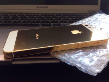 صور New Apple iPhone 5s 64GB Unlocked 24 Karat Gold 2