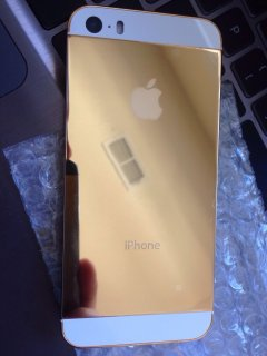 صور $New Apple iPhone 5s 64GB Unlocked 24 Karat Gold 3