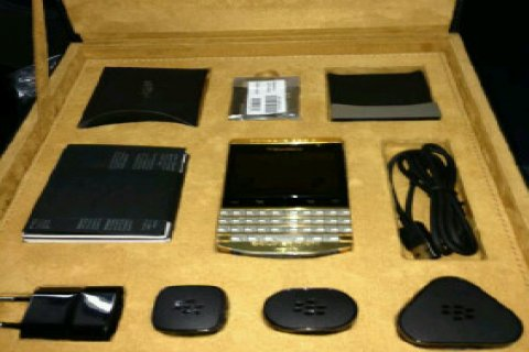 BB PORSCHE P9981,P9982 GOLD WITH ARABIC KEY BOARD/VIP PIN:BB CHA
