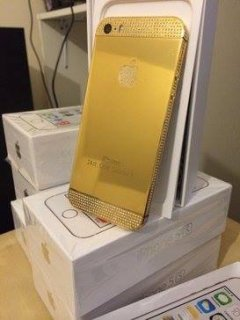 For sell Unlocked Gold Apple IPhone 5s Add BB pin : 25B6C27F