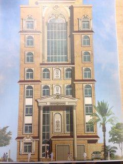 عمارة جديدة بموقع ممتاز  مكونة من 7 طوابق مع طابقين أرضي وسفلي